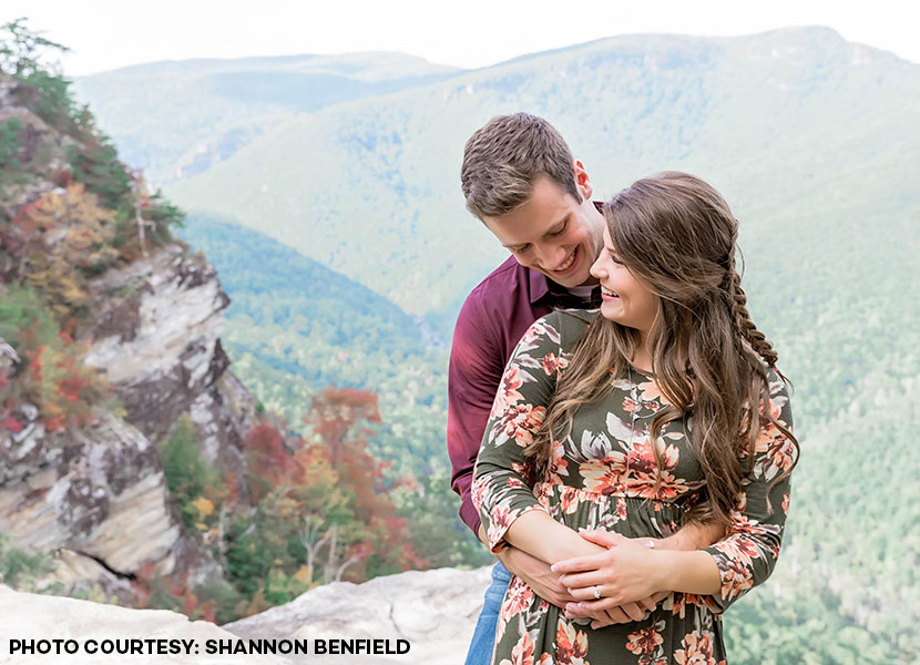 Tori Bates and her fiancé Bobby Smith. Photo credit: Shannon Benfield
