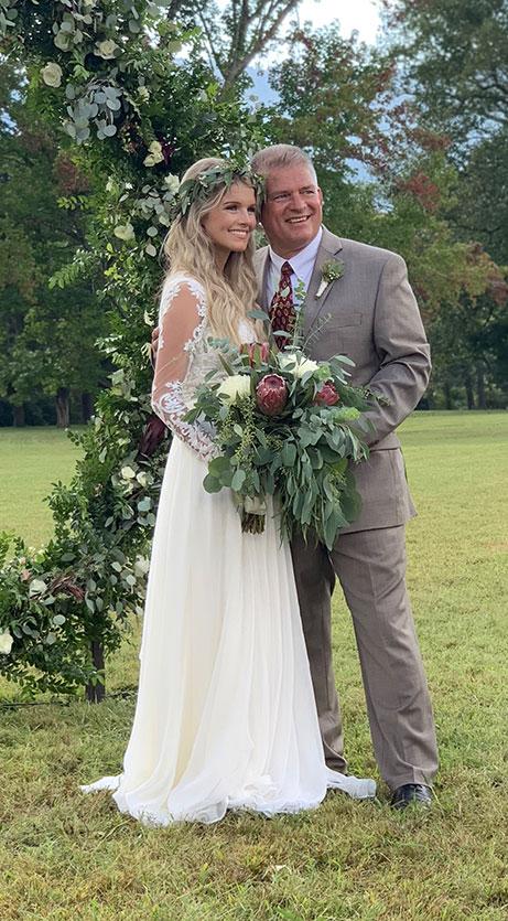 Josie Bates Balka and Gil Bates After The Wedding
